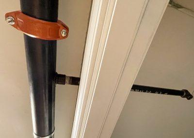 Sprinkler pipe to each bedroom